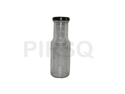 Glass Bottle With Black Cap | 200 ML Image