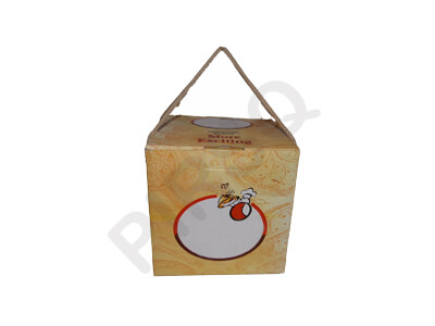 "Biryani Box With Handle | Take Away | W-6"" X L-6"" X H-6"" Image"