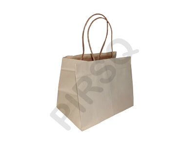 Brown Paper Bag With Handle | W-13 X L-19 X H-15 Image