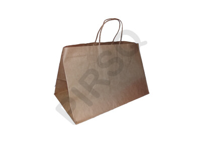Brown Paper Bag With Handle | W-34 X L-37 X H-29 Image
