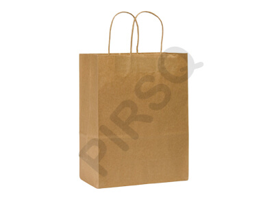 Brown Paper Bag With Handle | W-12 CM X L-50 CM X H-52 CM Image