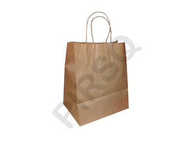 Brown Paper Bag With Handle | W-15 X L-22 X H-26 Image
