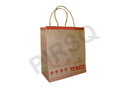 CUSTOMIZED BROWN PAPER BAG WITH HANDLE | W-11 CM X L-24 CM X H-26 CM  Image