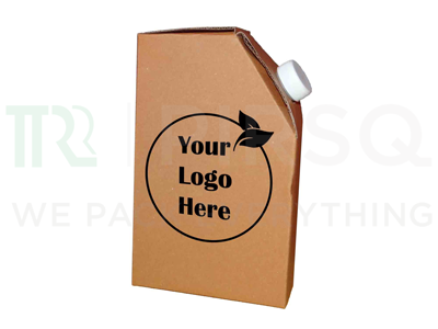 Chai Flask With Logo | Brown | 250 ML Image