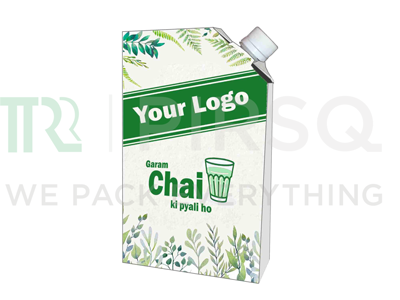 Chai Flask With Logo | White | 750 ML Image
