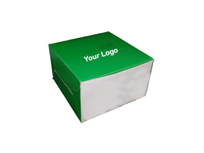 "Paper Box With Logo | W-5"" X L-5"" X H-3"" Image"