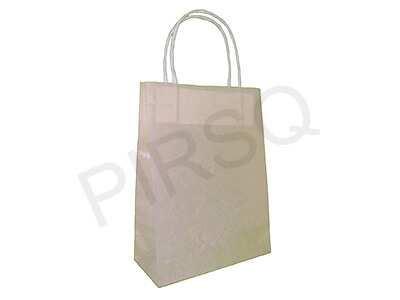 Latex Paper Bag With Handle | W-8 CM X L-17 CM X H-23 CM Image