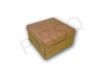 "Brown Paper box With Lid | W-4.5"" X L-4.5"" X H-2.5"" Image"