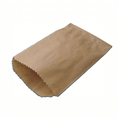 Brown Kraft Paper Bag | Flat | L-24 CM X W-21 CM Image