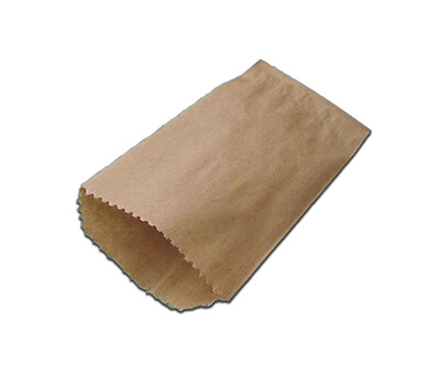 Brown Kraft Paper Bag | Flat | L-25 CM X W-16 CM Image