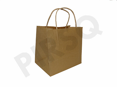 Brown Paper Bag With Handle | W-12.5 CM X L-18 CM X H-17 CM Image