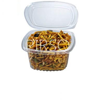 SNACKS CONTAINER WITH LID | TRANSPARENT | Q-TUB | 500 ML Image