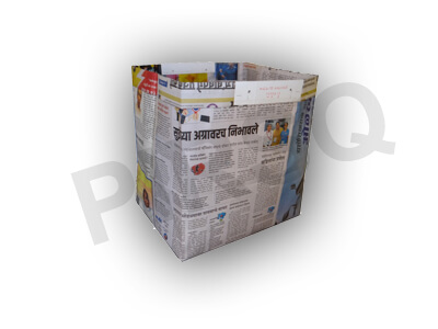"Newspaper Bag | W-9"" X L-12"" X H-13"" Image"