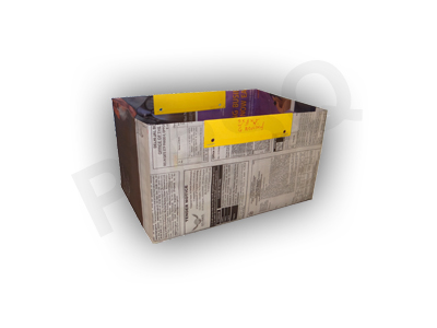 "Newspaper Bag | W-6"" X L-9"" X H-5"" Image"
