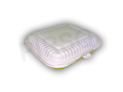 Cornstarch Food Container | 3 Compartment Image