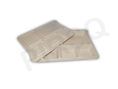Eco Friendly Meal Tray | Cornstarch | 5 Compartment Image