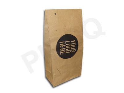 "Paper Bag Brown Color | With Logo | H-12"" x W-6"" x B-3.5"" Image"