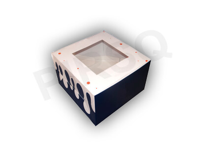 "Customized Cake Box With Window | W-7"" X L-7"" X H-4.5"" Image"