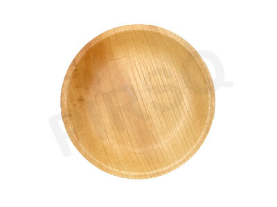 Areca Leaf Round Deep Plate | 7 INCH Image