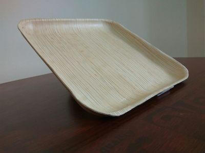 Areca Leaf Plate | Flat | Square | 9 INCH Image