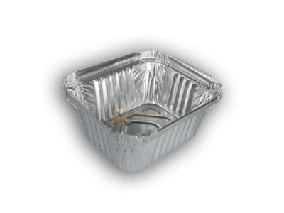 Aluminium Food Container | Square | 120 ML Image