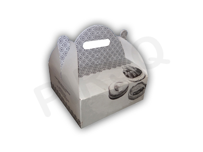 "Cake Box With Handle | L-8"" x W-8"" x H-4"" 
