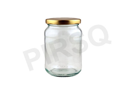 Honey Glass Jar With Lid | 500 ML Image