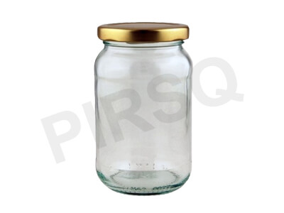 Pickle Glass Jar With Lid | 400 ML Image