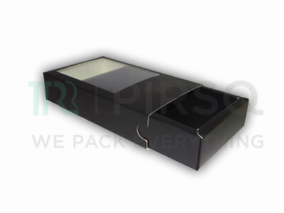 "Customized Paper Box With Window | W-2"" X L-4.5"" X H-7.5"" Image"