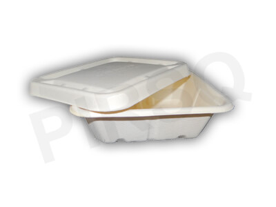 Bagasse Bowl With Lid | 750 ML Image
