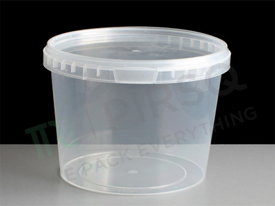 TAMPER PROOF PLASTIC CONTAINER WITH LID | 750 ML Image