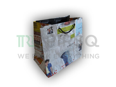 "Newspaper Bag With Handle | Big | H-11.5"" X W-12.5"" X G-7"" Image"