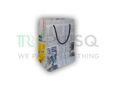 "Newspaper Bag With Handle | Small | H-8"" X W-6"" X G-4.5"" Image"