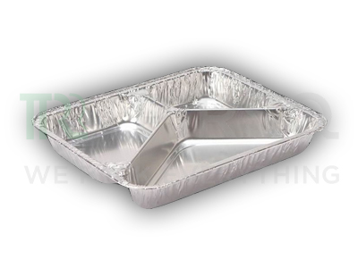 Aluminium Food Tray | 3 Compartment Image