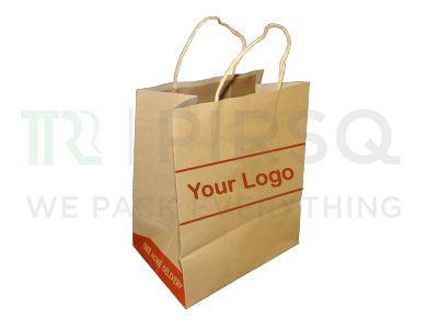 "Brown Paper Bag With Handle | W-8.5"" X G-5.5""  X H-10""  Image"
