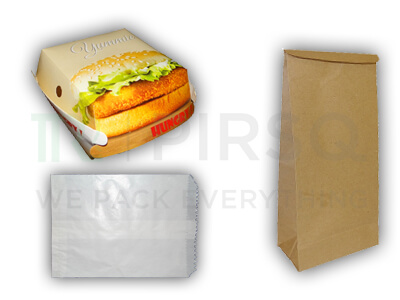 Burger Box | French Fries Pouch Combo Image