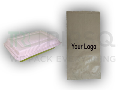 Cornstarch Food Container | Paper Bag with Logo Image