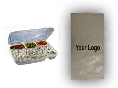 5 Compartment Meal Tray | Printed Paper Bag Image