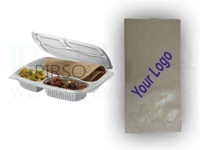 3 Compartment Meal Tray | Printed Paper Bag Image