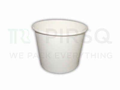 Ice Cream Tub With Paper Lid | White | 500 ML Image