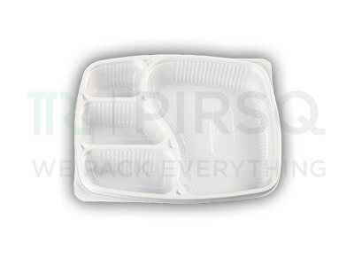 Plastic Tray With Lid | Oracle | 4 Compartment  Image