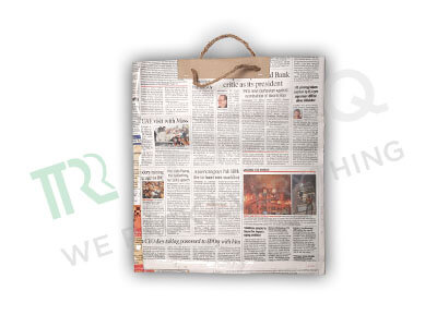"Newspaper Bag With Handle | H-13.5"" x W-12"" Image"
