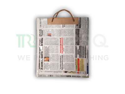 "Newspaper Bag With Handle | H-11.5"" x W-10.5"" Image"