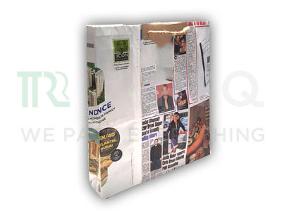 "Newspaper Bag with Handle | W-3.5"" X L-15"" X H-16"" Image"