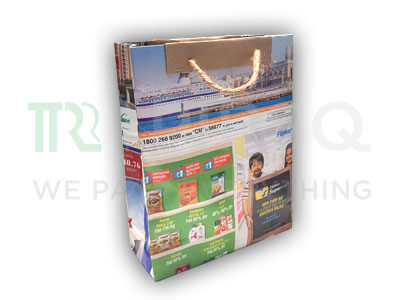 "Newspaper Bag with Handle | H-11"" X W-3.5"" X L-9.5"" Image"