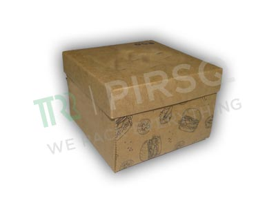 "Brown Paper box With Lid | With Logo | W-5"" X L-5"" X H-3.5"" Image"