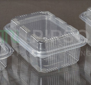 Plastic Hinged Box With High Lid | Oracle | Rectangular | 750 ML Image