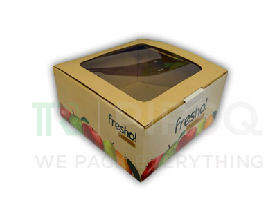 "Fruit and Vegetables Box with Window | W-7"" X L-7"" X H-3"" Image"