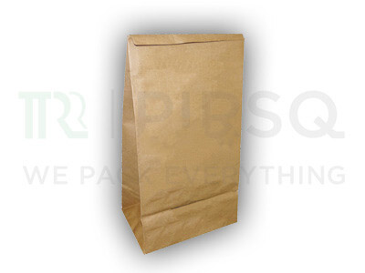 "Paper Bag Brown Color | H-12"" x W-7"" x B-5""  Image"