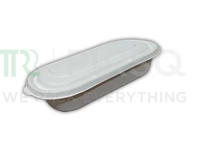 Bagasse Container With Lid | 500 ML Image
